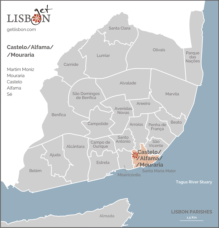 Castelo/Alfama/Mouraria map