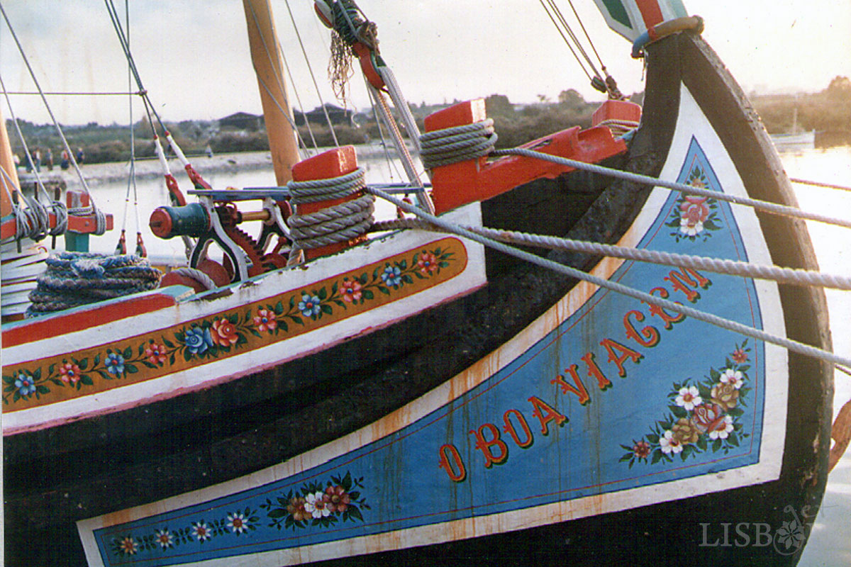 Traditional Boats of the Tagus River - O Boa Viagem - Decorative Painting