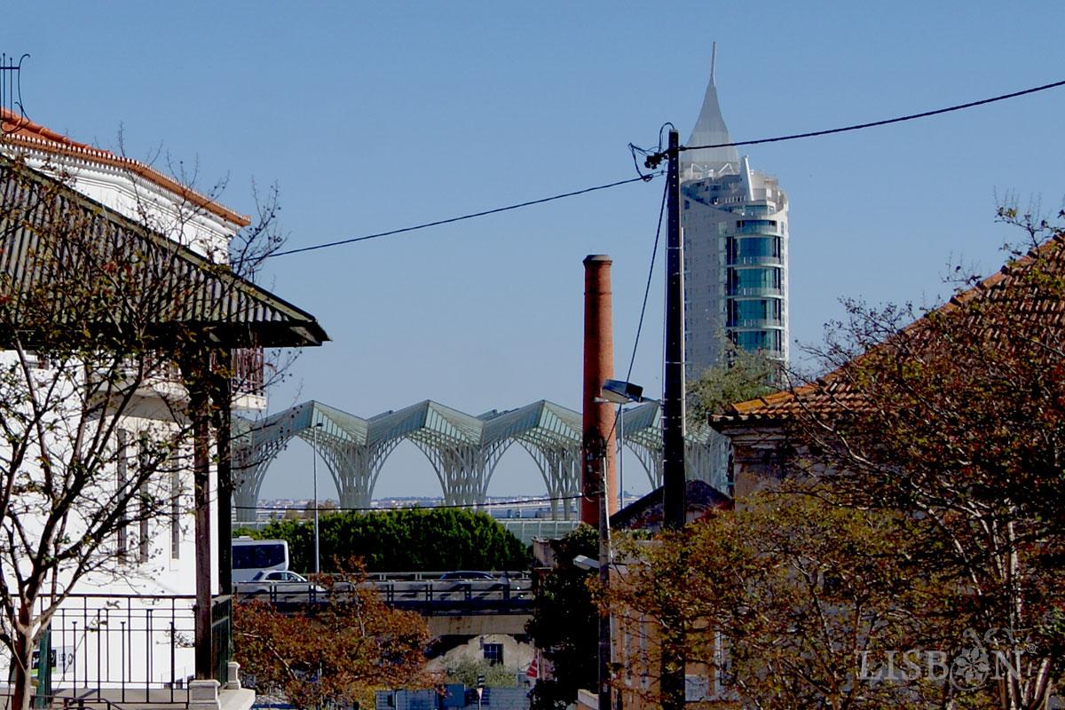 Parque das Nações seen from Olivais Velho