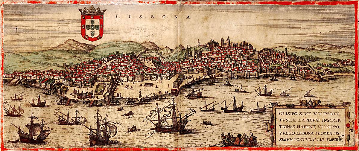 Vista de Lisboa e Rio Tejo no Século XVI