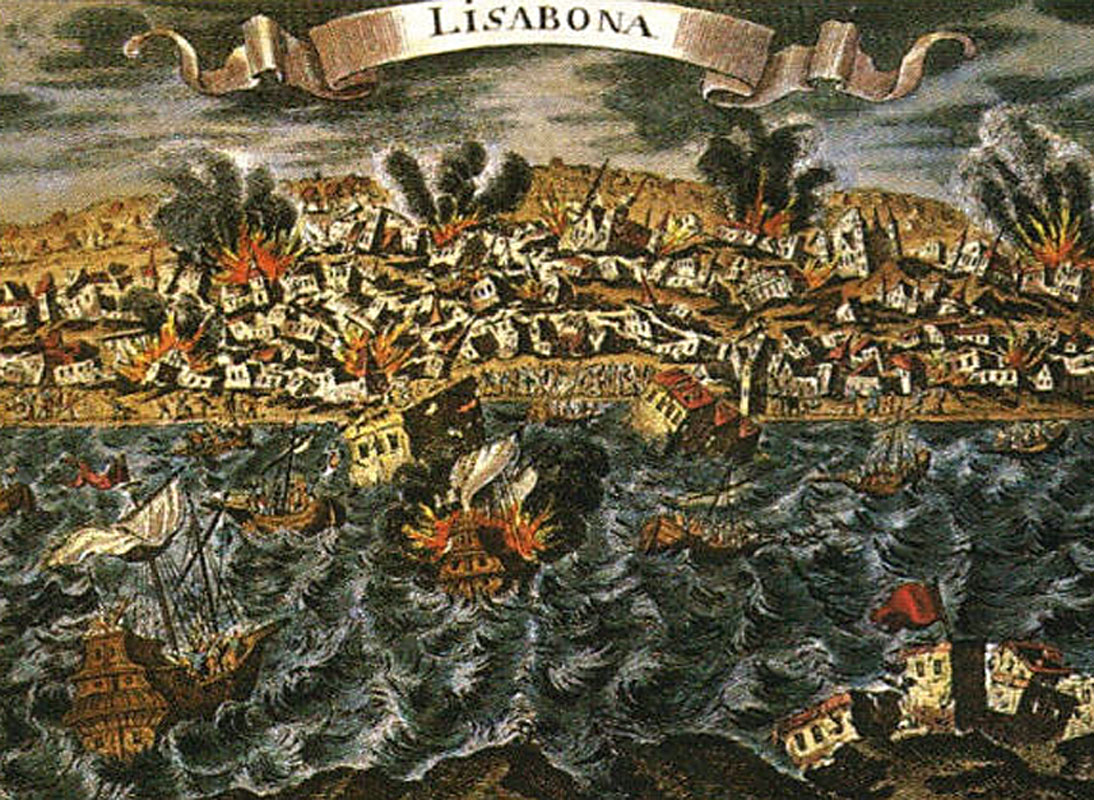 Illustration of the 1755 Lisbon Earthquake