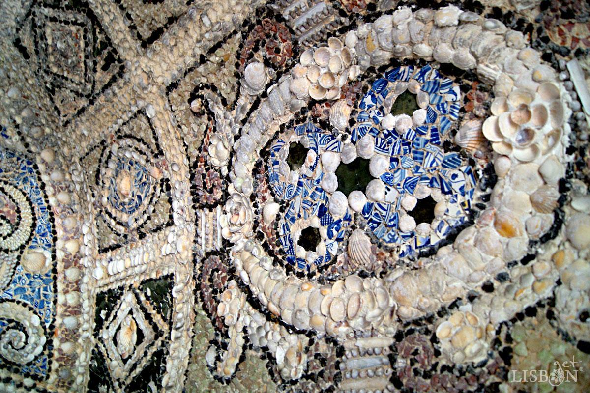 Solar dos Zagallos: Pormenor da abóbada da capela de Santo António Caiado