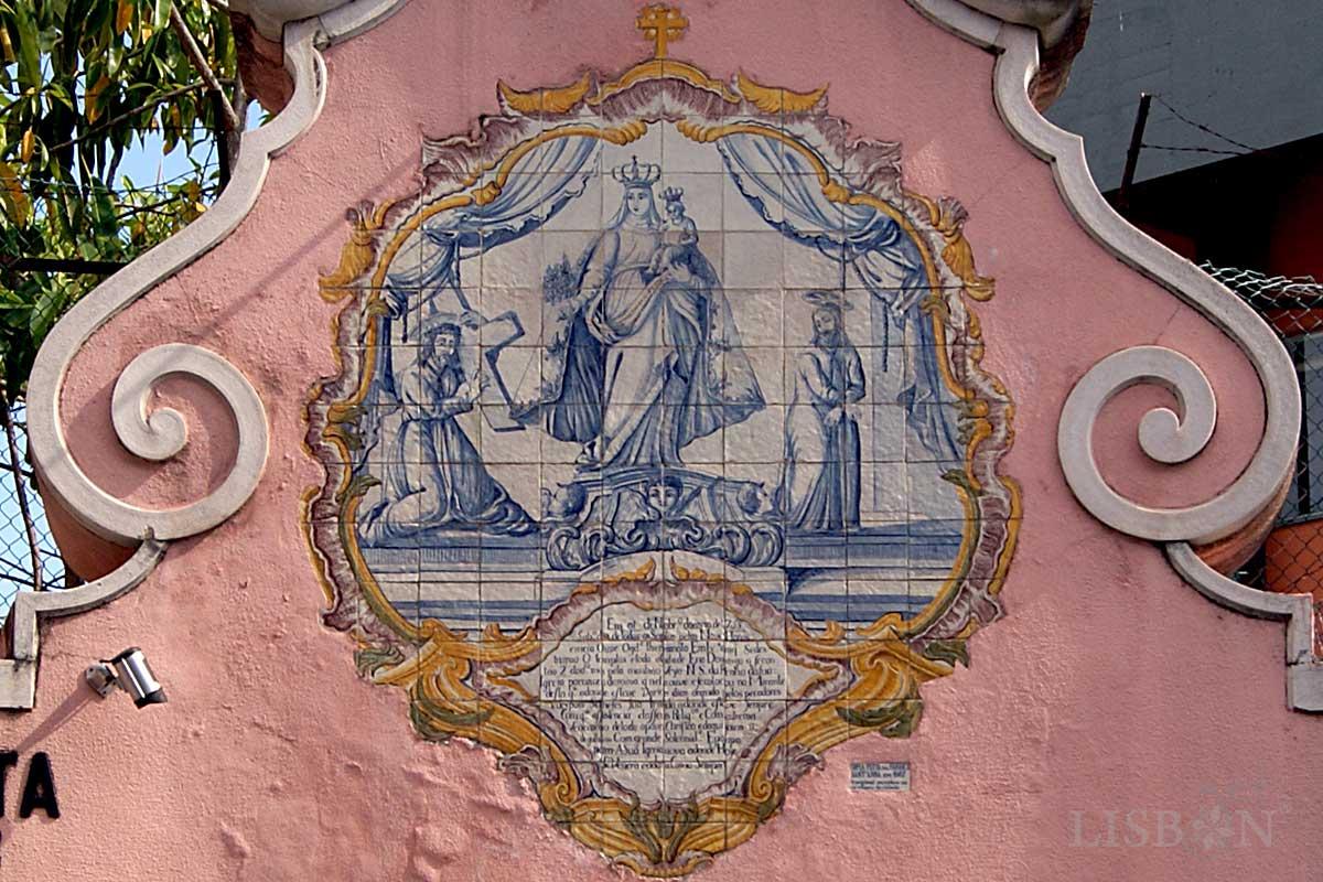 Registo de Azulejo no Edifício da Junta de Freguesia da Penha de França