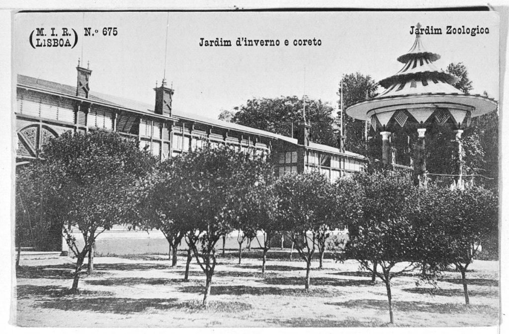 Arquivo Municipal de Lisboa; Winter Garden and bandstand of the Lisbon Zoo, post. 1905
