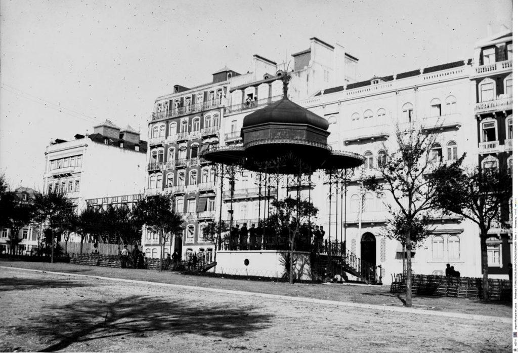 Arquivo Municipal de Lisboa; Bandstand of the Avenida da Liberdade, since 1935 at Garden of Estrela ; José Chaves Cruz (1870-1947)