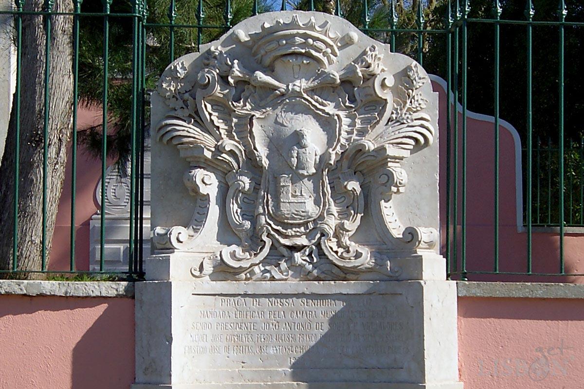 Brasão da Extinta Câmara Municipal de Belém existente no Largo da Luz