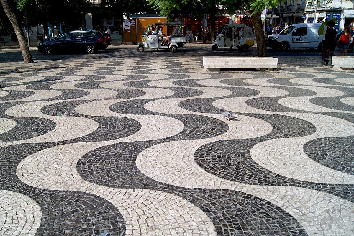 Calçada Portuguesa - Mar Largo, Rossio, Lisboa, 2018