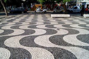 Portuguese Pavement - Mar Largo Drawing, Rossio, Lisbon, 2018