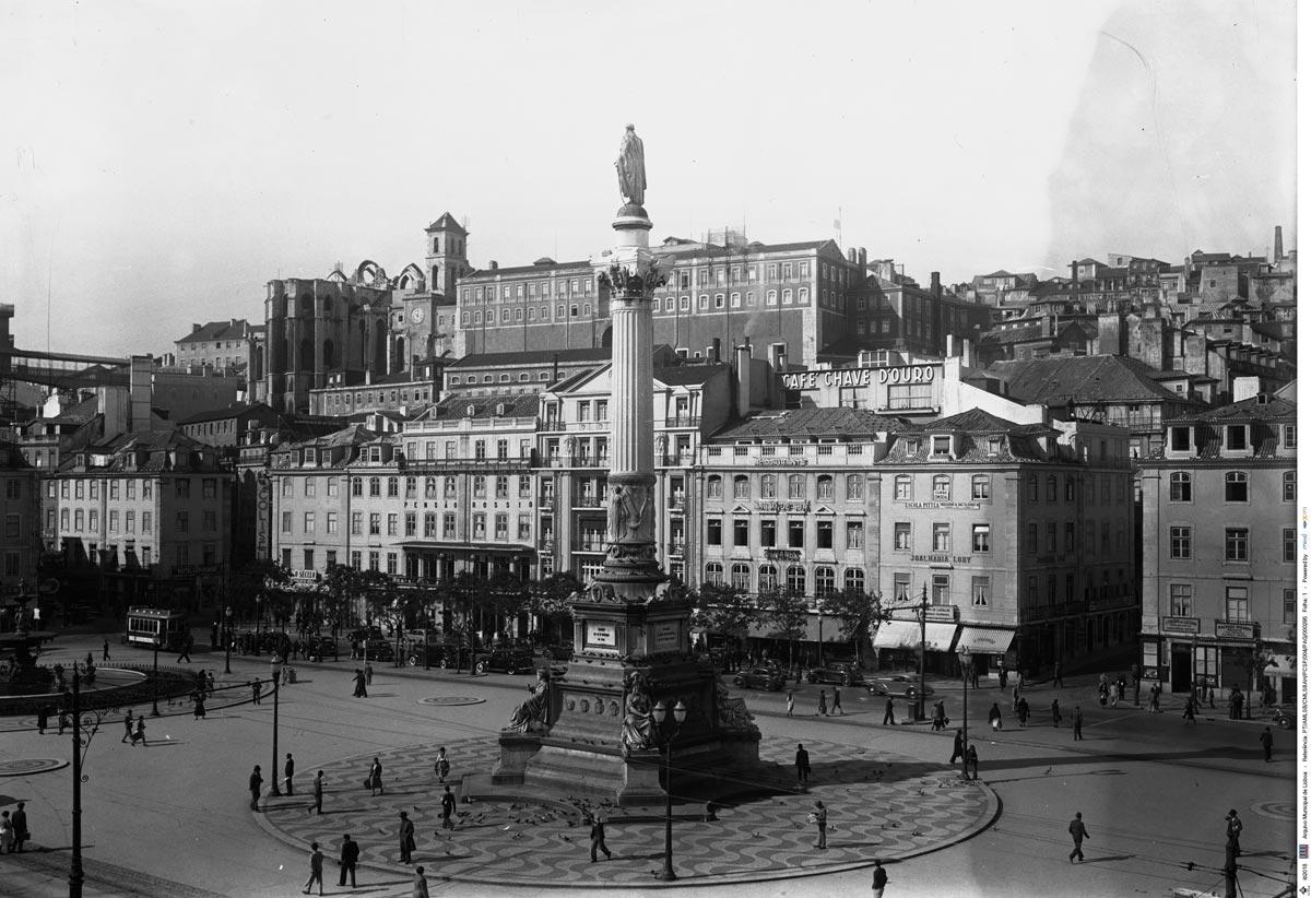Arquivo Municipal de Lisboa; Calçada Portuguesa da Praça Dom Pedro IV; ant. 1919; Paulo Guedes (1886-1947); PT/AMLSB/CMLSBAH/PCSP/004/PAG/000295