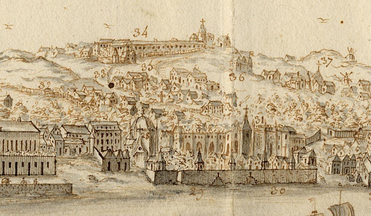 Belém e Ajuda - Vista da Real Barraca; Bernardo de Caula, 1763