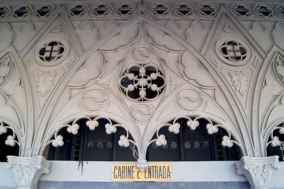 Elevadores e Funiculares de Lisboa: Pormenor Decorativo do Elevador de Santa Justa, 2018