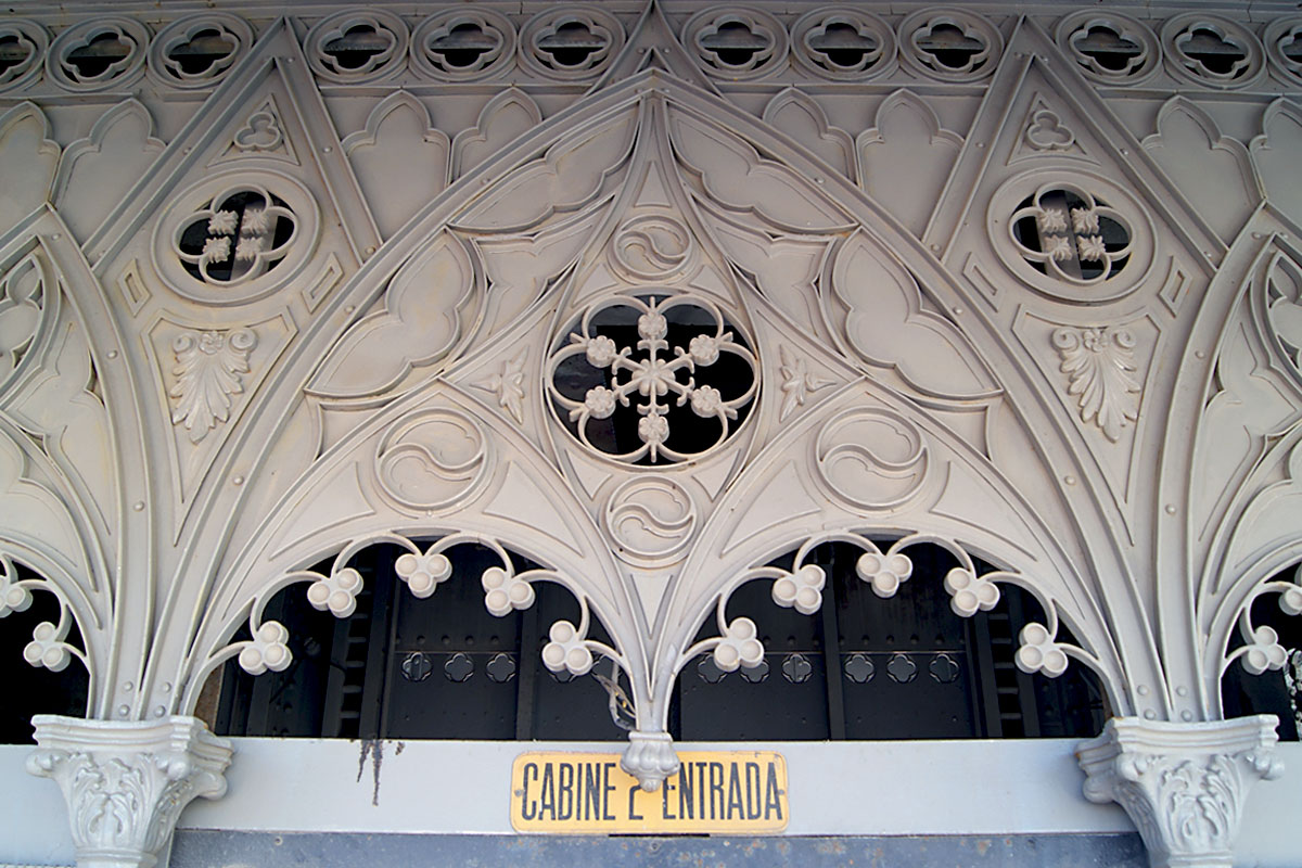 Lifts and Funiculars of Lisbon: Decorative Details of the Santa Justa Lift, 2018
