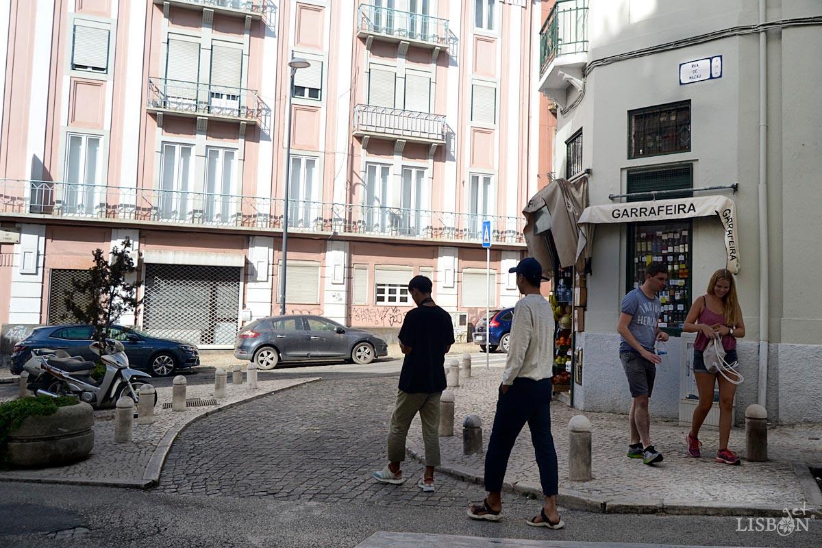 Rua de Macau, in the  Freguesia de Arroios, Lisbon