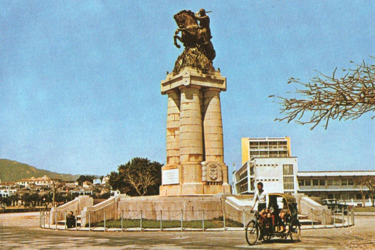 Monumento a Ferreira do Amaral, Macau, bilhete postal, anos 60 do séc. XX