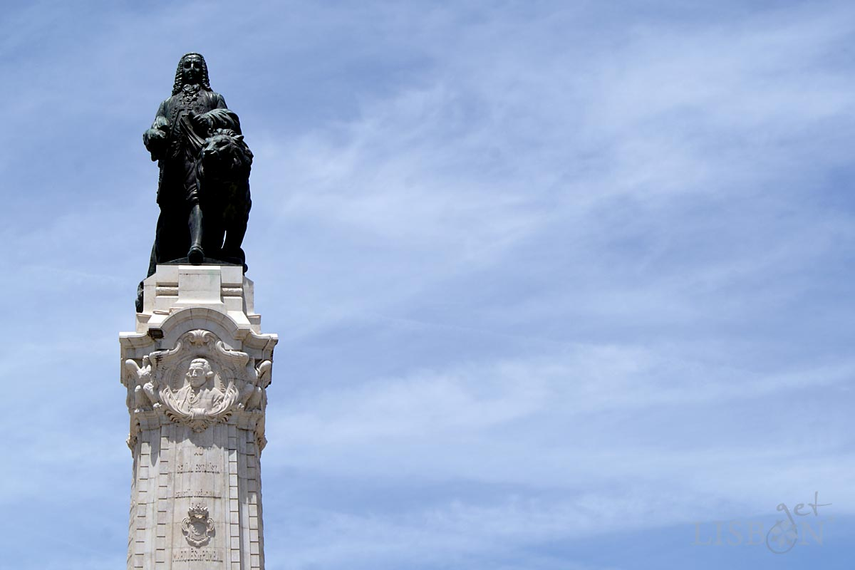 The statue of the Marquis of Pombal in Marquês de Pombal Square, Lisbon