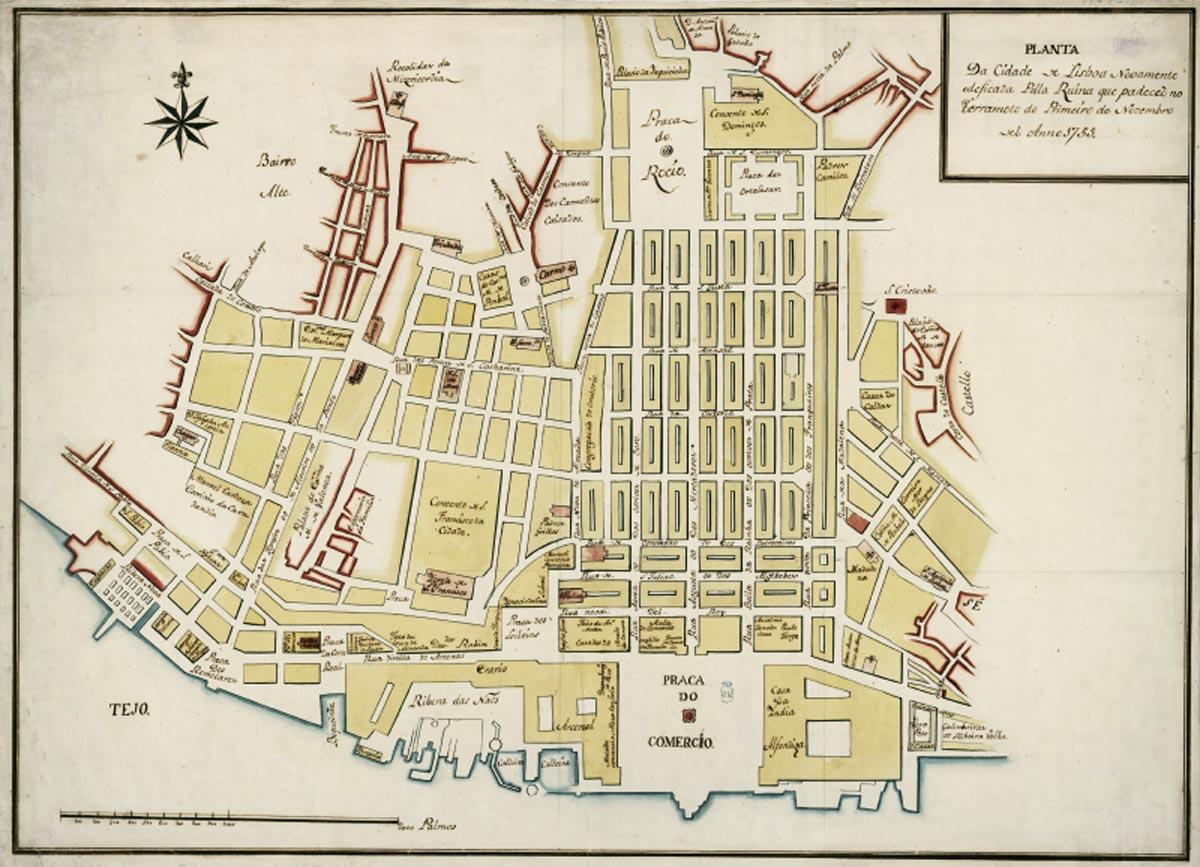 Planta da Baixa Pombalina, c. 1786