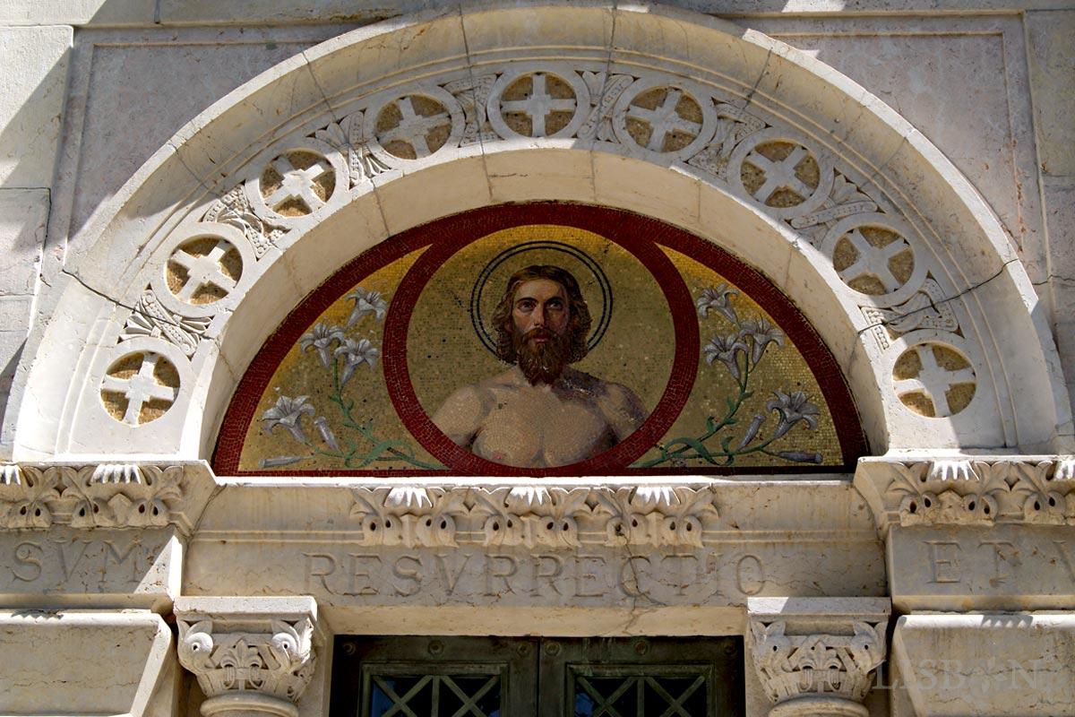 Italian mosaic of the tomb of the Franco Mantero Family, Prazeres Cemetery, Lisbon