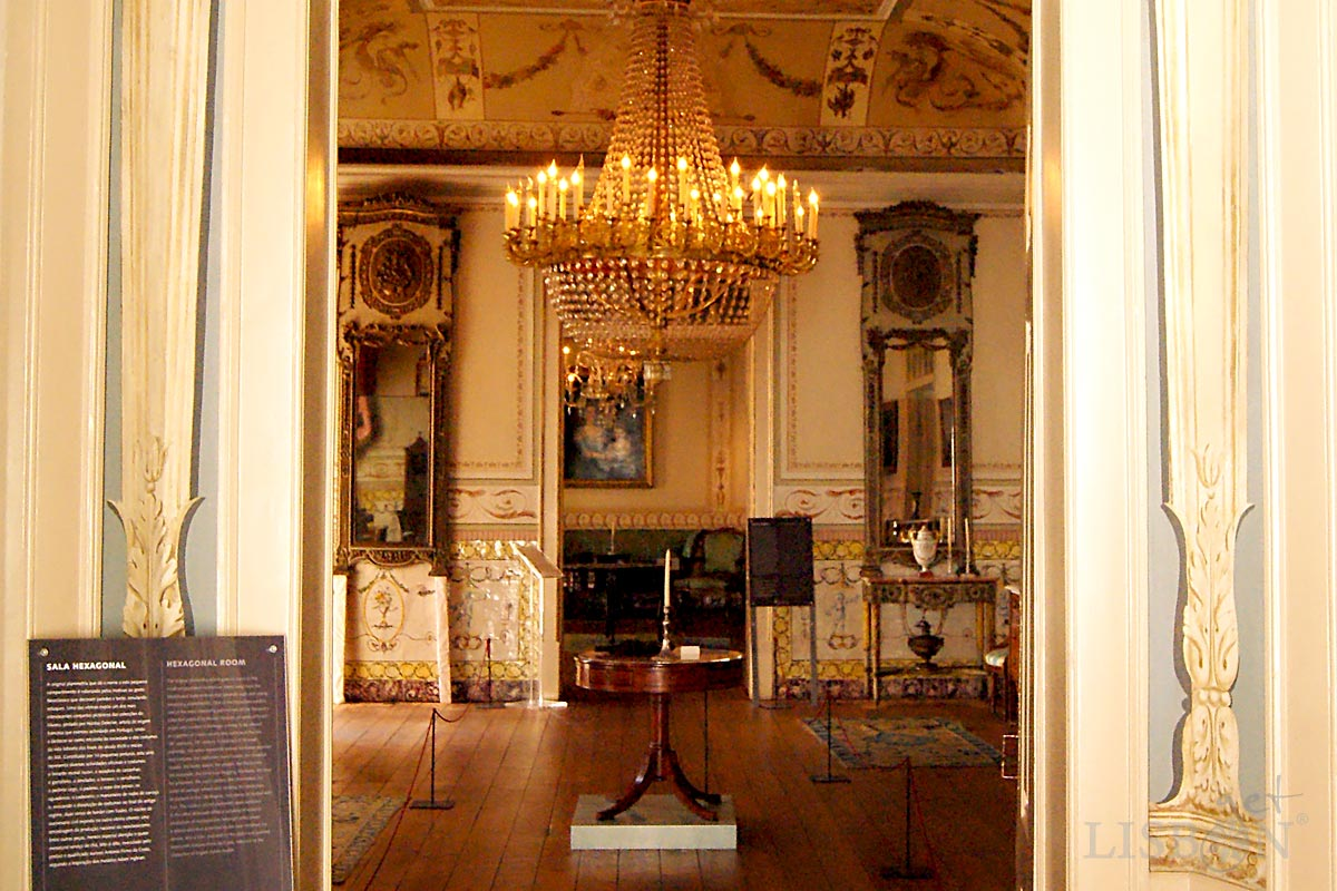 Vista parcial da Sala D. Maria e ao fundo a Sala D. José, Museu de Artes Decorativas Portuguesas, Lisboa