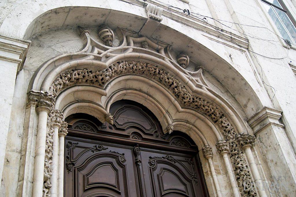 Portal of the Madalena Church, in Madalena Square