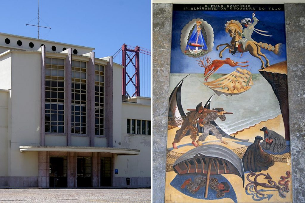 Mural de Almada Negreiros na Gare Marítima de Alcântara, anos 40 do séc. XX