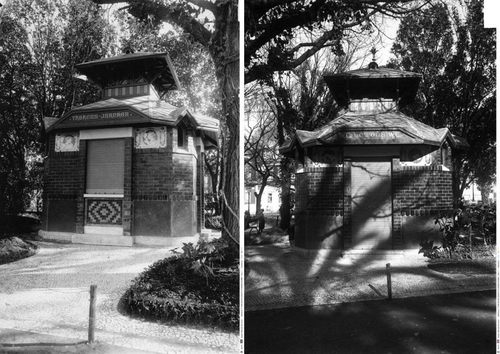 A lost exemplar of WC kiosk of the Príncipe Real Garden