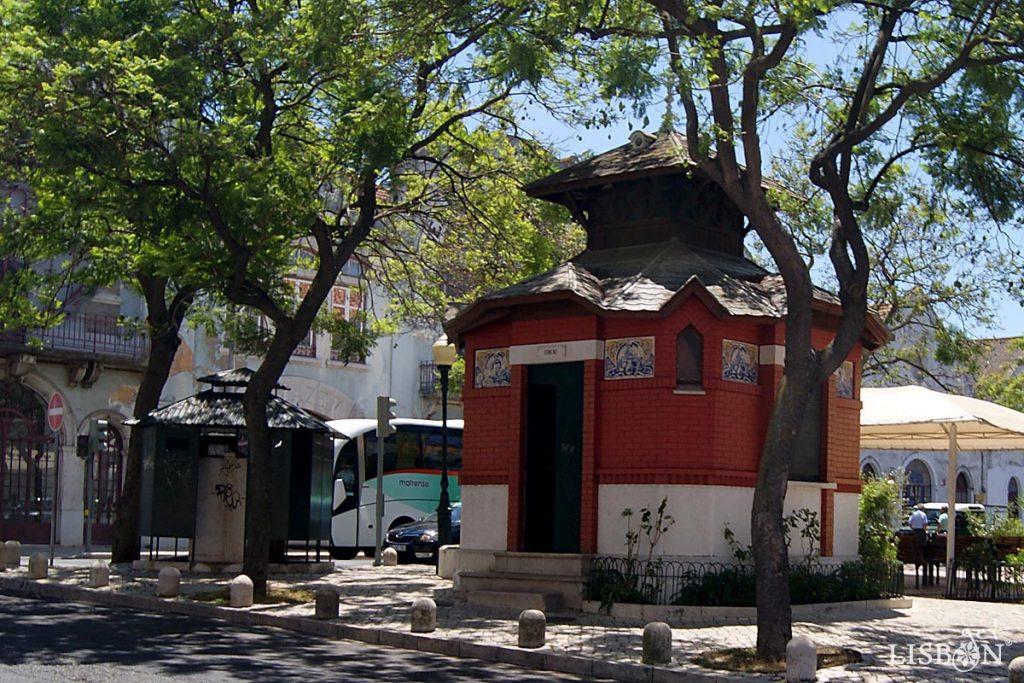 WC kiosk of the Poço do Bispo Garden