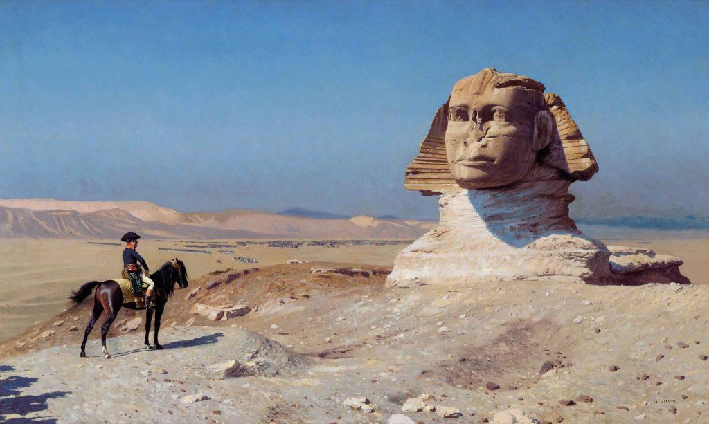 Bonaparte Before the Sphinx, oil painting, c 1868, Jean-Léon Gérôme (1824-1904)