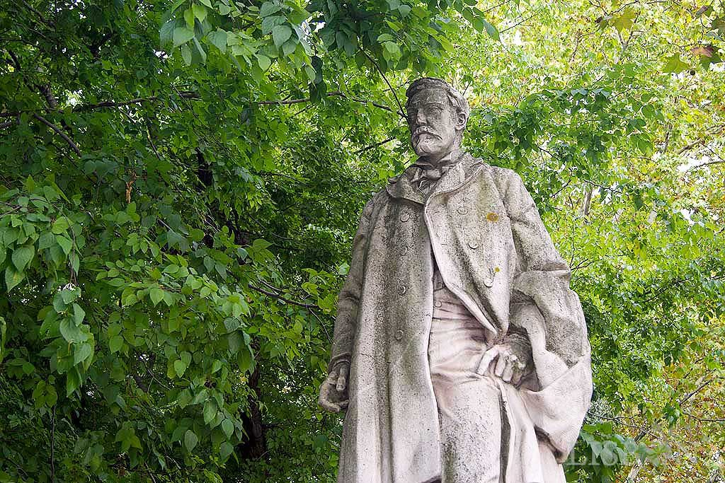 Figure sculpture of Oliveira Martins, an outstanding personality of the Portuguese historiography