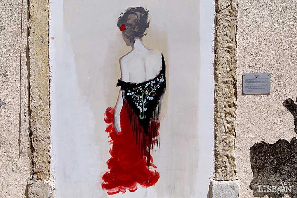Street art in Severa Square, Mouraria