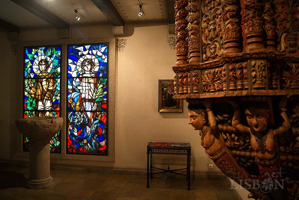 In the chapel you can find a eclectic collection of religious art