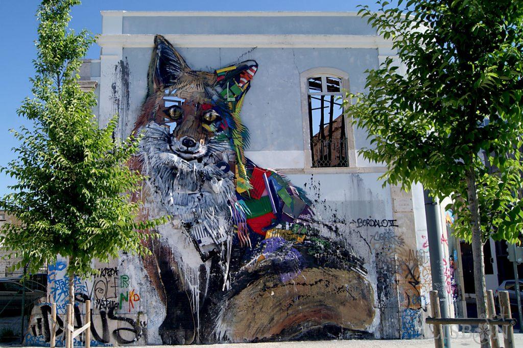 Obra de Bordalo II: Half Fox, Santos
