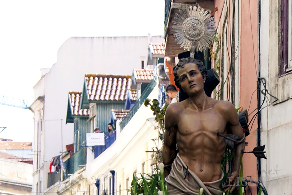 Image of Saint Sebastion, protector against the plague and patron saint of the military