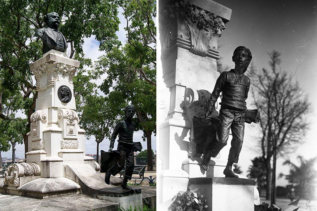 The Work of the Sculptor Costa Motta (Tio) in Lisbon: Monumento a Eduardo Coelho (1835-1889), jornalista e fundador do jornal Diário de Notícias em 1864, implantado no Jardim de São Pedro de Alcântara