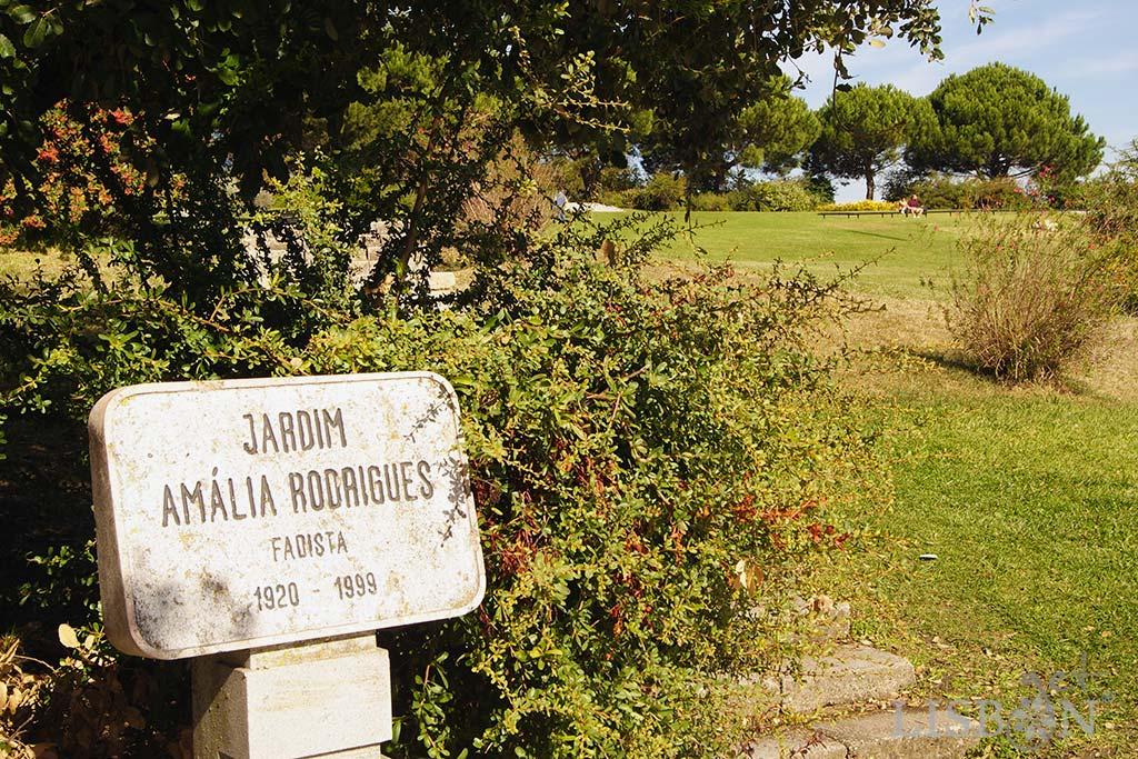 Jardim Amália Rodrigues, espaço ajardinado que prolonga o Parque Eduardo VII