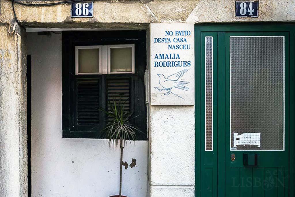 House where Amália was born, Rua de Martim Vaz