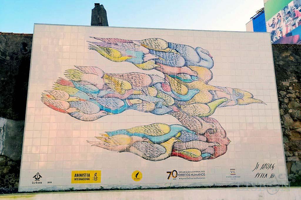 Mural Amnistia Internacional, Amoreiras