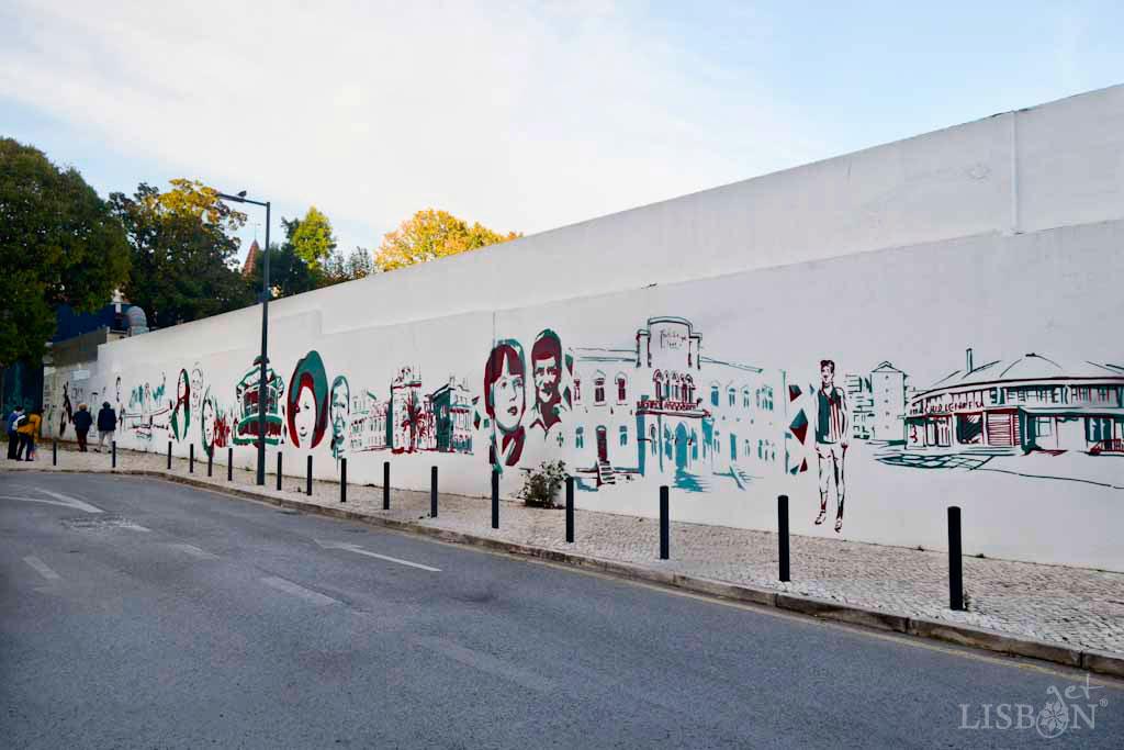 Mural of Personalities of Benfica Neighbourhood in Rua das Garridas