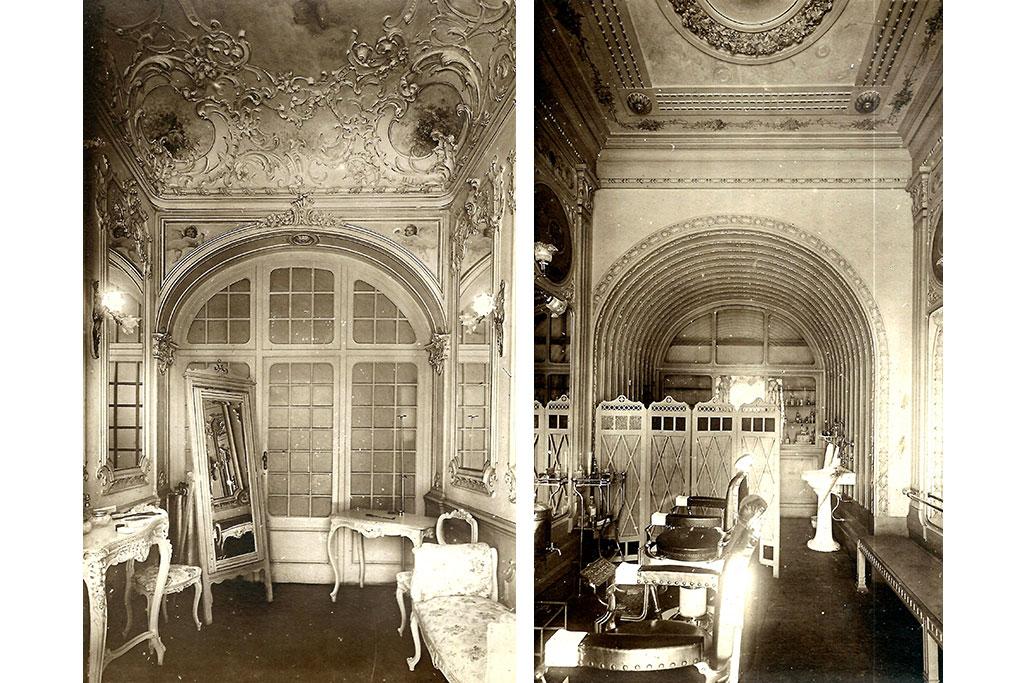 Ladies' toilet and barbershop