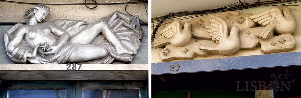 Pieces by José Farinha in Estrada de Benfica and Rua das Francesinhas
